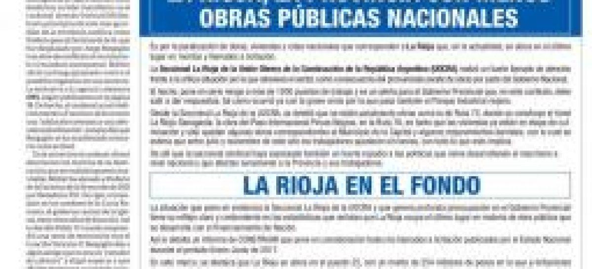 La Rioja vuelve a denunciar a Nación por discriminación