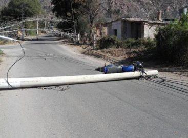 El viento zonda dejó destrozos en Sanagasta y Chilecito