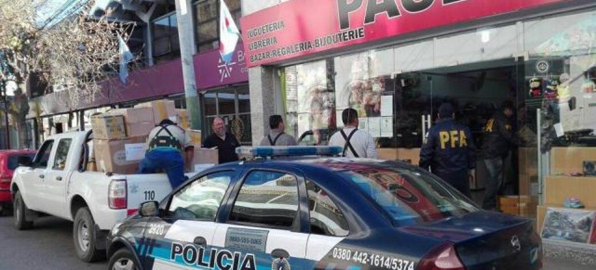 Secuestran medio millón de pesos en mercadería ilegal