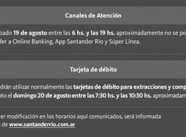 Diversos servicios del Banco Santander con interrupciones