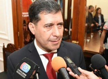 Casas descartó que analice cambios en el gabinete provincial