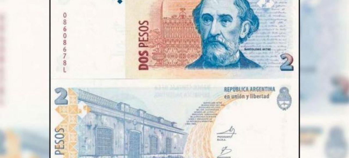 Sacan de circulación el billete de $2 y lo cambian por monedas