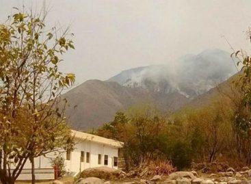 Sigue el combate al incendio forestal en Castro Barros