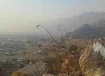 Sanagasta bajo el humo y cenizas por un incendio forestal