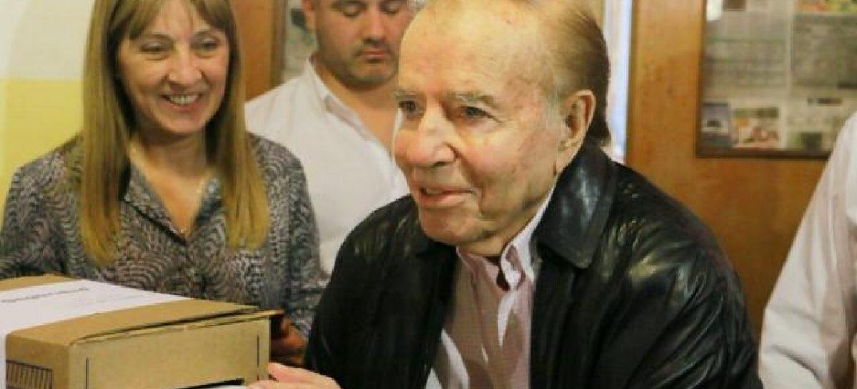 Votó Menem y se refirió al caso de Santiago Maldonado