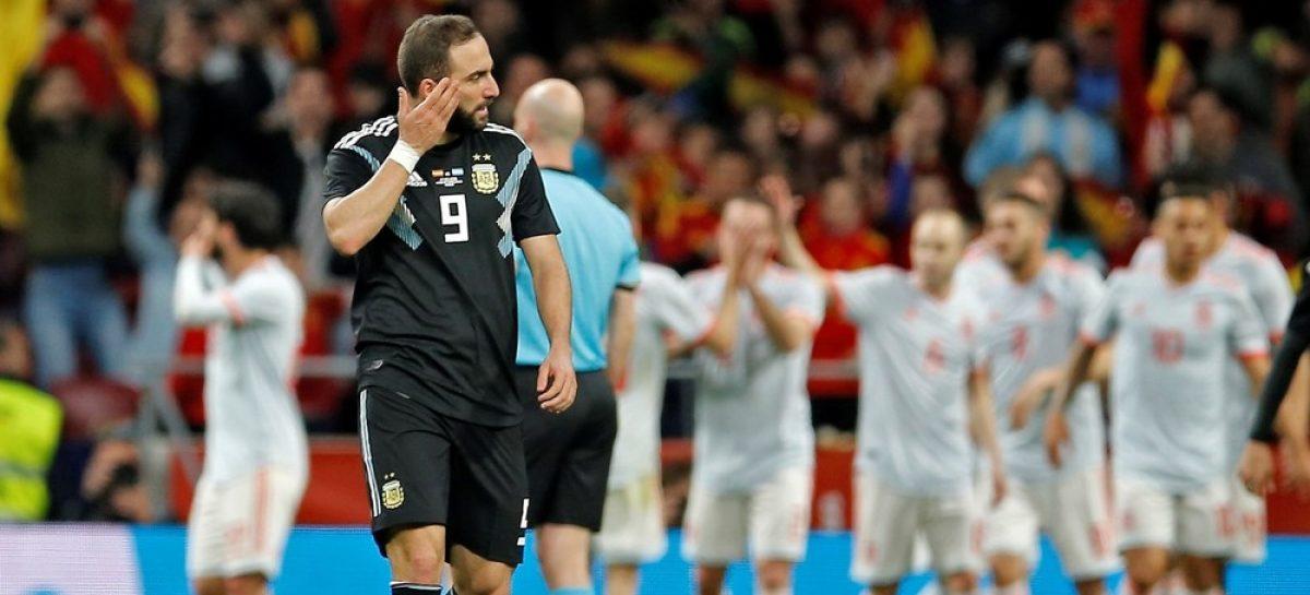Sin Messi, Argentina hizo un papelón ante España y perdió 6 a 1