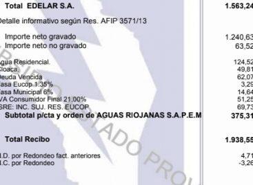 Tarifas. Paredes rechazó eliminar tasas de boletas de servicios públicos