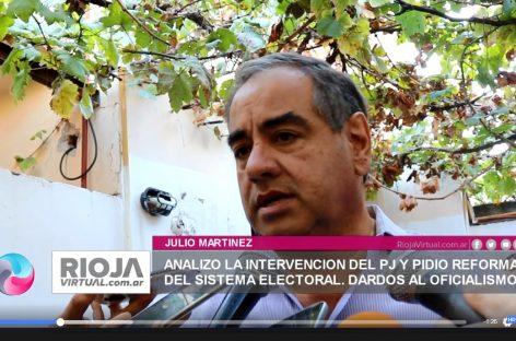 Julio Martinez opinó sobre la intervención del PJ