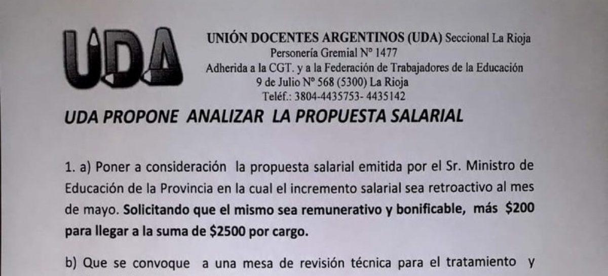 UDA se diferencia de AMP y pide $2500 por cargo remunerativos