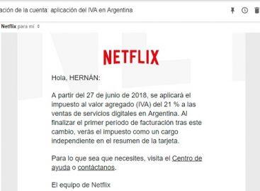 Netflix le avisa a sus clientes que a partir de junio cobrará IVA