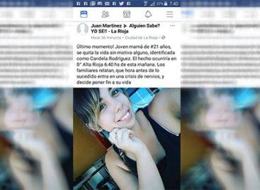 En Facebook anoticiaban su suicidio. Ella salió a desmentirlo