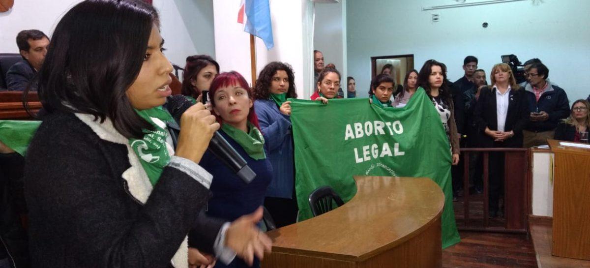 Sectores pro aborto irrumpieron en el Concejo Deliberante