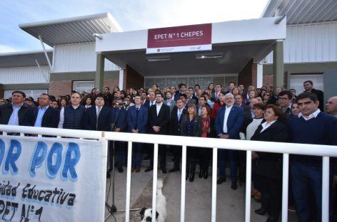 Chepes. Inauguran escuela técnica con $44 millones de inversión