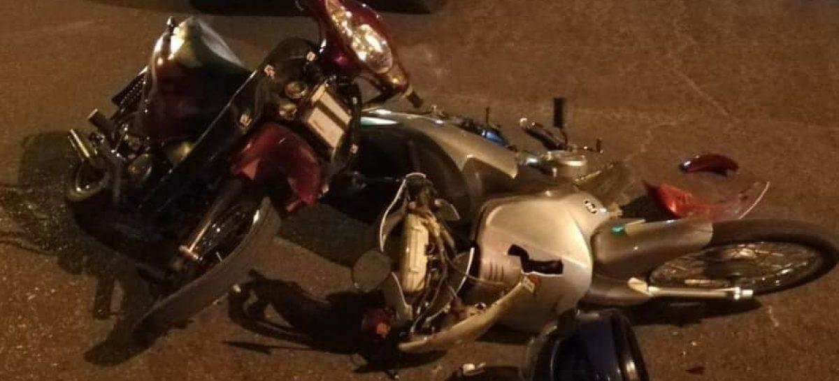 Chocaron dos motos y una de las conductoras tenía 12 años