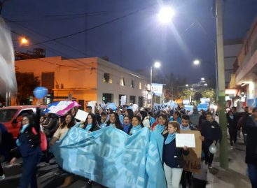 La Rioja tuvo manifestación en rechazo a la despenalización del aborto