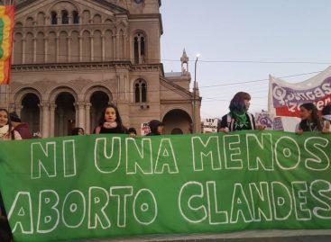 El 'Ni Una Menos' riojano fue copado por sectores pro aborto legal
