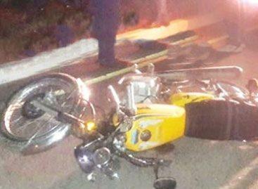 Chepes. Cayó de su moto, pegó contra el cordón y le costó la vida