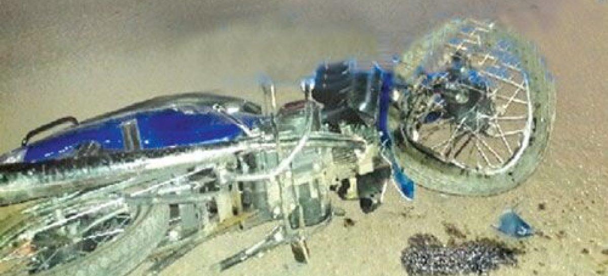 Chocó con su moto, fue internado pero murió horas después