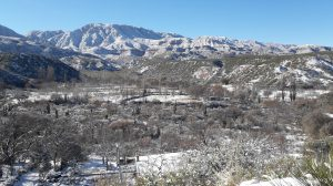 Nevó en el interior riojano: Aicuña y Cuesta de Miranda de blanco