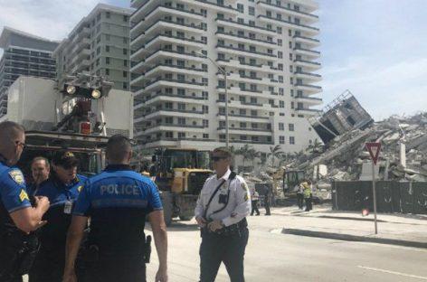 Impactante: colapsó un edificio en Miami Beach