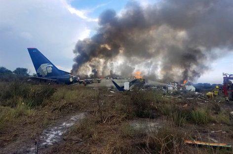 México. Se cayó un avión, pero no hubo muertos