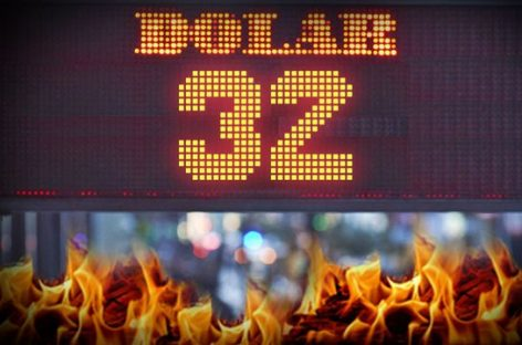 El dólar superó los $32 y sigue sin control