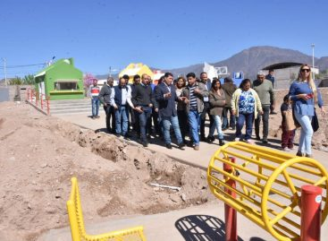Casas garantizó la continuidad de obra pública en barrios de Capital