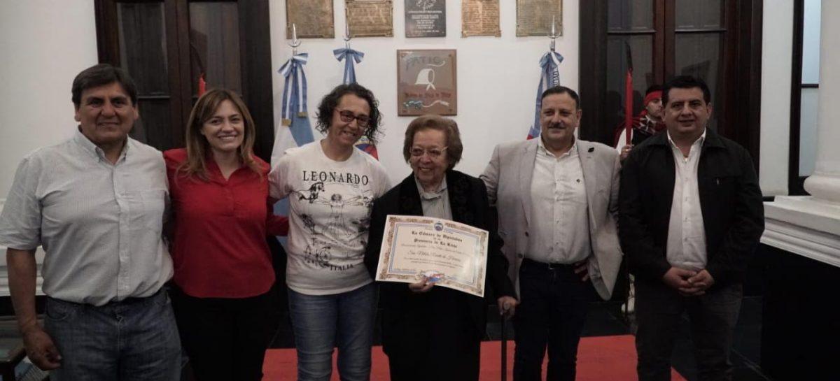 Quintela reconoció la labor de Nélida Rearte de Herrera