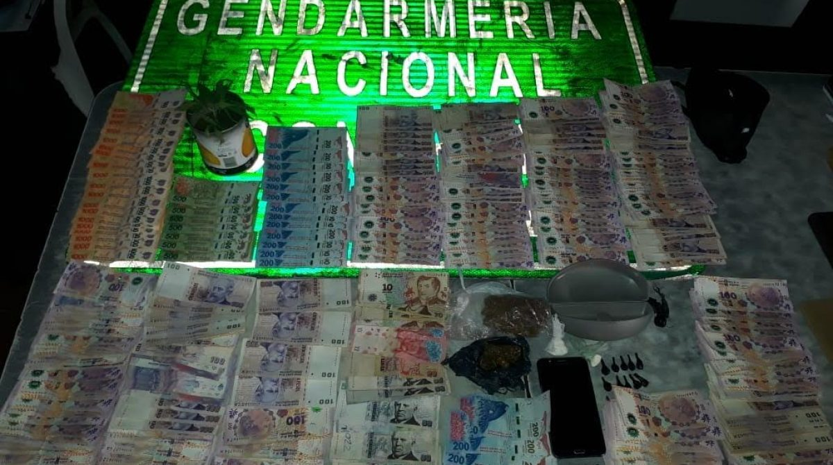 Gendarmería desbarató banca narco que vendía cocaína y marihuana