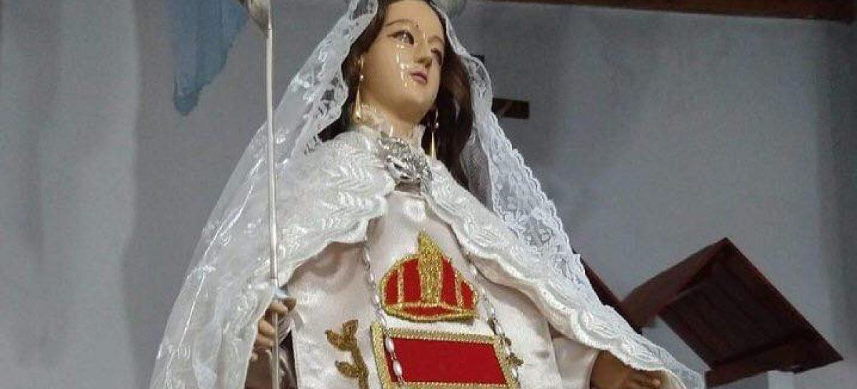 La Virgen de la Merced llora y conmociona a Chilecito