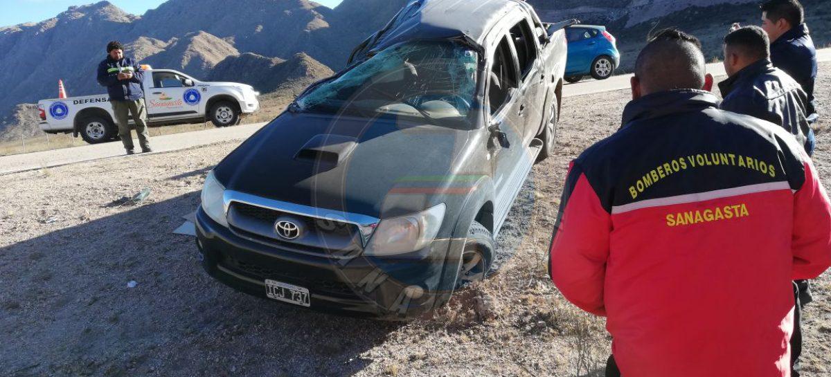 Terrible vuelco en Pampa de la Viuda: seis heridos
