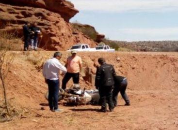 Murió un motociclista en ruta 40: tenía 71 años