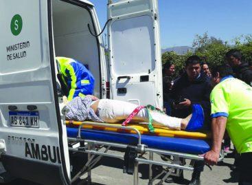 Motochorros atacaron y dejaron con serias lesiones a una mujer