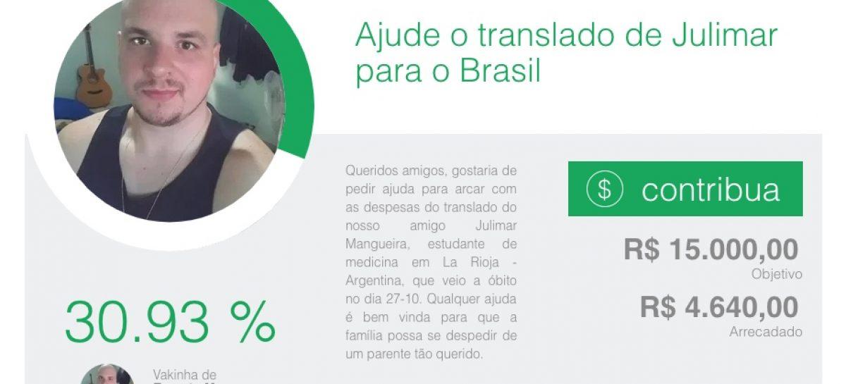 Recaudan fondos para trasladar cuerpo de estudiante brasileño fallecido