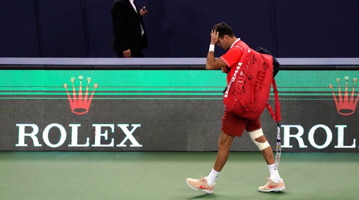 Se confirmó grave lesión de Del Potro: fractura de rodilla derecha