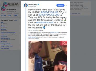 Hackearon la cuenta de Twitter de Sergio Casas