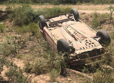 Un vuelco rutero dejó tres heridos, uno de ellos menor