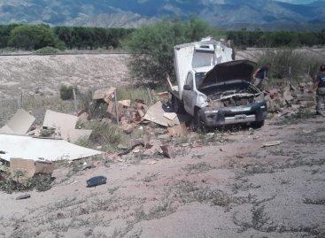 Brutal vuelco de camioneta en el Oeste provincial