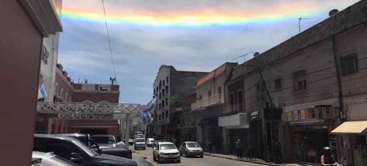Halo solar, el fenómeno climático que sorprendió a los riojanos