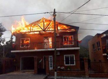 Sañogasta. Un rayo provocó voraz incendio en una casa