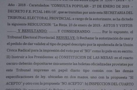 Consulta popular. La oposición embistió contra el Tribunal Electoral