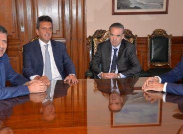 Fuerte respaldo de Massa y Pichetto a la reelección de Casas