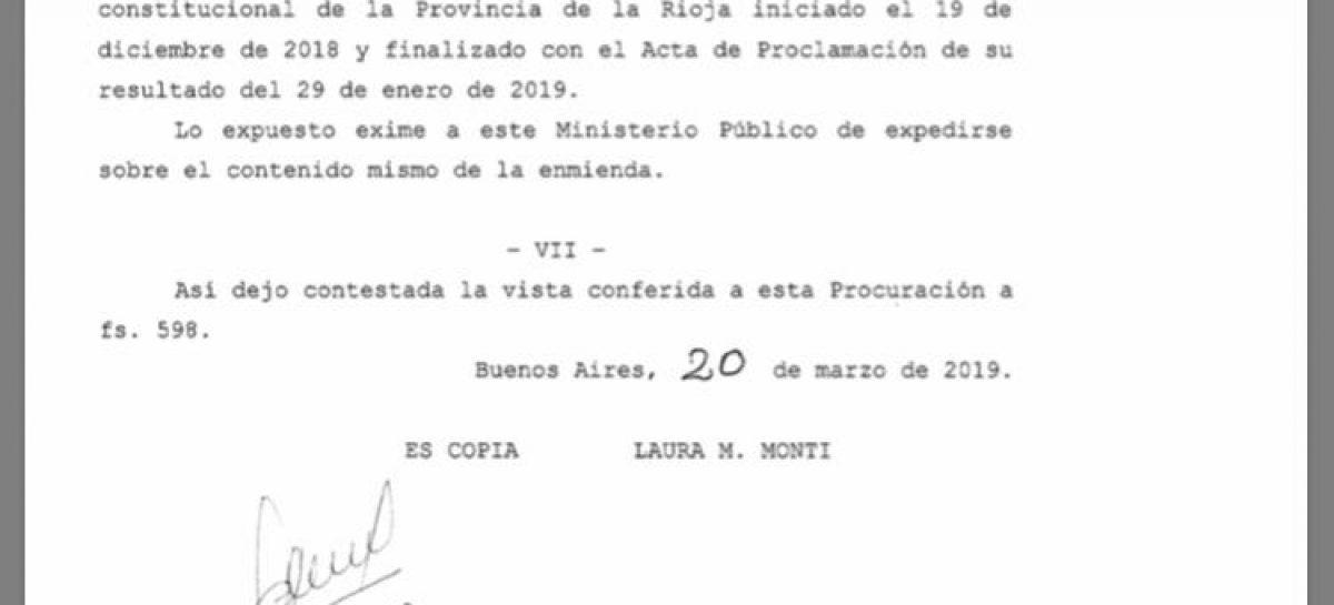 Procuración tildó de 'ilegítimo' el proceso de enmienda y consulta popular