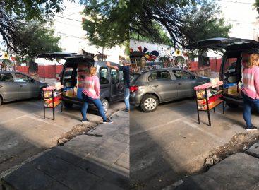 La crisis agudiza el ingenio riojano: kiosco móvil