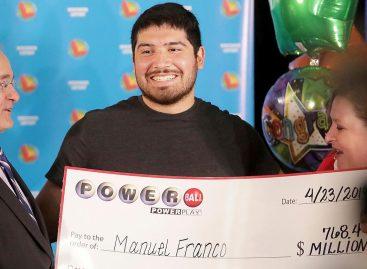 Suertudo. Con 24 años ganó 768 millones de dólares en la lotería