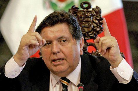 Se suicidó el ex presidente de Perú, Alan García: tenía pedido de detención