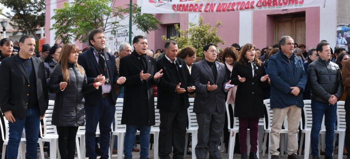 Oficialismo y oposición, juntos para homenajear a Santa Rita