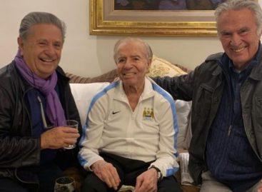 Menem, a 30 años de su primer triunfo en una presidencial, brindó con Duhalde