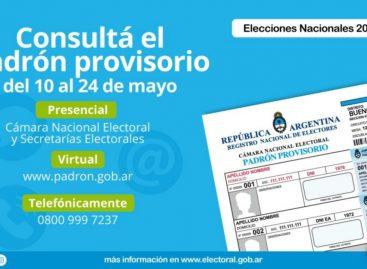 Elecciones 2019. Últimos días para subsanar errores en el padrón provisorio