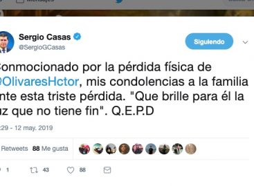 La despedida vía Twitter del espectro político a Héctor Olivares